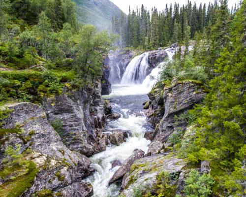 Rjukandefossen - Beautiful waterfall in Hemsedal, Norway