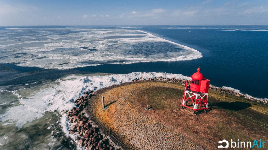 Kruiend ijs - Friesland - Stavoren - Drone