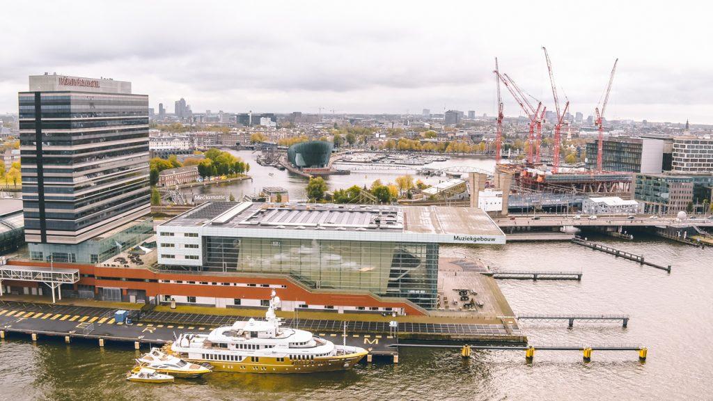 Drone Muziekgebouw Amsterdam